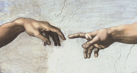 Michelangelo's Finger of God