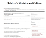 Childrens Ministry and Culture
